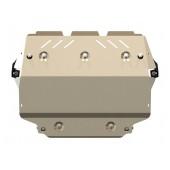Защита картера и КПП VOLKSWAGEN Golf VI 2008-2013 1,4; 1,8; 2.0D; 3,6. AT, MT алюминиевая 5 мм