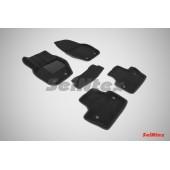 Ворсовые коврики 3D для VOLVO S-60 2010- цвет: Черный артикул: 86306