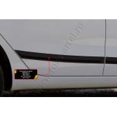 Молдинг на дверь (вариант 2) задний левый Kia Rio 2011-2015 III (седан) глянец (под покраску)