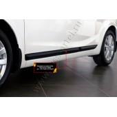 Молдинги на двери узкие (передний левый) Kia Cerato 2013-2016 (седан) глянец (под покраску)
