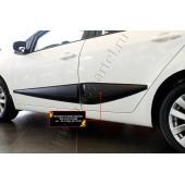Молдинги на двери широкие (задний левый) Kia Cerato 2013-2016 (седан) глянец (под покраску)