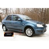 Молдинги на двери Renault Logan 2004-2010  глянец (под покраску)
