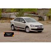 Молдинги на двери Volkswagen Polo 2009-2016 V глянец (под покраску)
