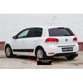 Молдинги на двери (вариант 2) Volkswagen Golf 2009-2012 VI глянец (под покраску)
