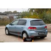Молдинги на двери Volkswagen Golf 2009-2012 VI глянец (под покраску)