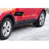 Накладки на колёсные арки (задний левый) Kia Soul 2014-2016  глянец (под покраску)