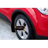 Накладки на колёсные арки (передний левый) Kia Soul 2014-2016  глянец (под покраску)