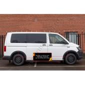 Накладки на колёсные арки Volkswagen Transporter 2015-2019 (T6) глянец (под покраску)