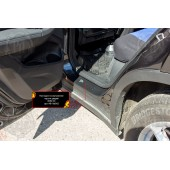Накладки на внутренние пороги дверей BMW X3 2018- шагрень
