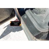 Накладки на внутренние пороги задних дверей BMW X3 2018- шагрень