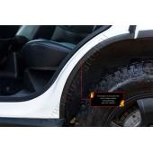 Накладки на внутренние части задних арок без скотча Chevrolet Niva 2002-2008  шагрень