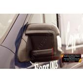 Накладки на боковые зеркала Вариант 2 Peugeot Boxer 2006-2013 L1H1 (250 кузов) шагрень