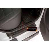Накладки на ковролин порогов Nissan Terrano 2014-2015  шагрень