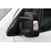 Накладки на боковые зеркала 2 шт. Fiat Ducato 2012-2013 L1H1 (250 кузов) шагрень