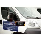 Накладки на боковые зеркала 2 шт. Peugeot Boxer 2006-2013 Шасси (250 кузов) шагрень