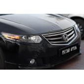 Накладки на передние фары (реснички) компл.-2 шт. Honda Accord 2008-2010 VIII глянец (под покраску)