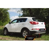 Тюнинг обвес заднего бампера Вар. 2 Kia Sportage 2010-2013 III шагрень серый металлик