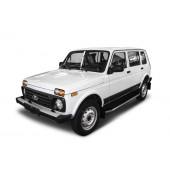 "Декоративный порог подножка""Premium"" для Lada 4x4 Urban 5D 2016->"