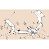 Фаркоп Bosal для ACURA MDX 2014-н.в. нагрузка 2500/100 Тип шара: F 4380-F