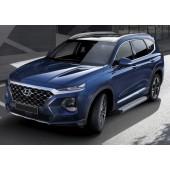 "Декоративный порог подножка""Bmw-Style"" для Hyundai Santa Fe 2018->"