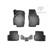 Коврики салонные для Volkswagen Polo VI (HB) (AW) 3D 2017-2020 компл