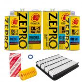 Набор для ТО LEXUS LX 450D 2015-2020 LUX масло:  Idemitsu ZEPRO 5w30
